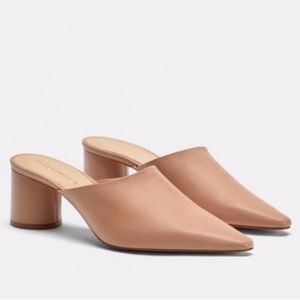 Zara Blush Mule Block Heel